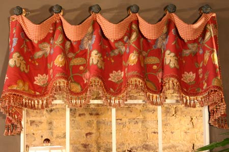 Free Curtain Pattern: Lined Drapery Panel And Valance and