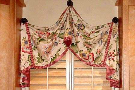 pull-up curtain valance sewing pattern