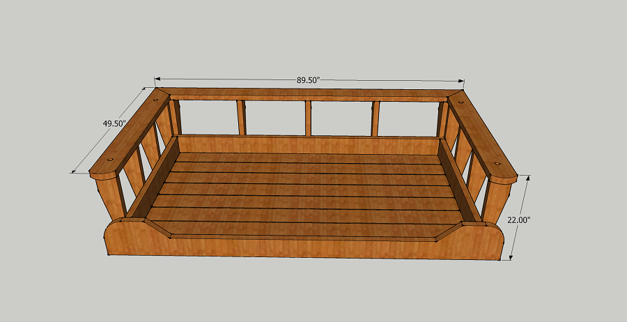 Porch Swing Bed Size