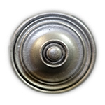Ripple Knob/Finial -Antique Silver