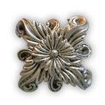 Regal Floral Knob/Finial - Antique Silver - NEW!