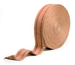 Natural & Red Upholstery Webbing Trim - Sold By The Yard