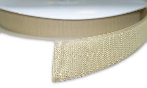 "Sew-On HOOK Tape - Tan,  1"" Wide - Sold by the Yard"