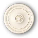 Ripple Knob/Finial - Aged White