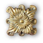 Regal Floral Knob/Finial - Gold