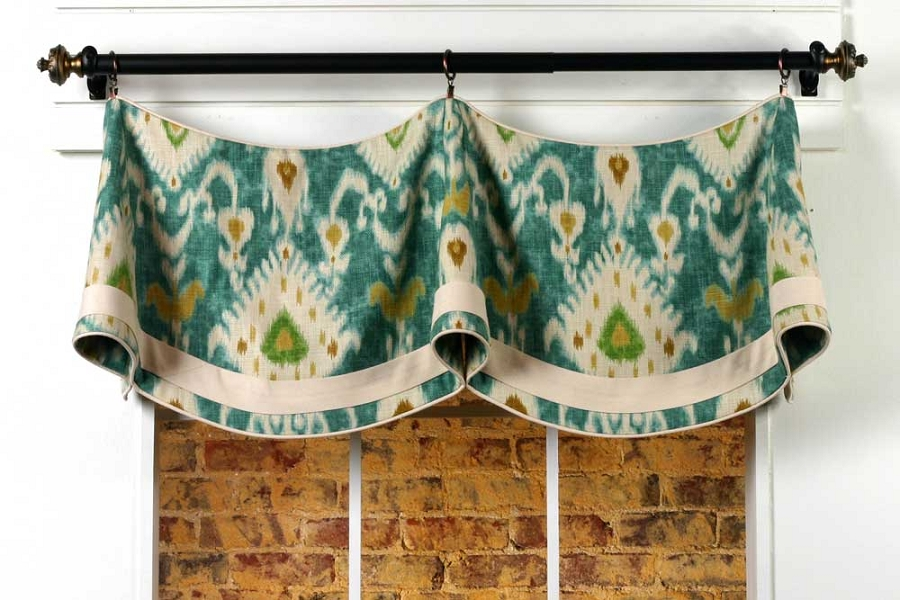 Claudine curtain valance sewing pattern pate meadows How to make a valance without sewing