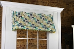 Sample Sale: Sadie Awning Valance Sample - (Bird Fabric)