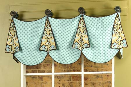 Louise Curtain Valance Sewing Pattern Pate Meadows