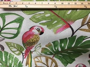Fabric - Tropical Parrot 3.5 YARDS - $4.99 PER YARD