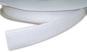 "Sew-On HOOK Tape - White, 5/8"" or 1"" Wide - Sold by the Yard"