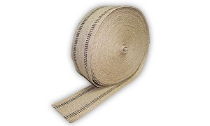 Natural & Black Upholstery Webbing Trim - Sold By The Yard