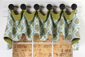 Cuff-Top Valance Sewing Pattern