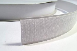 "Sticky Back Hook Tape - White, 1"" Wide - Sold by the Yard"