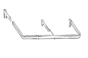 Awning Valance Rod with Adjustable Clearance
